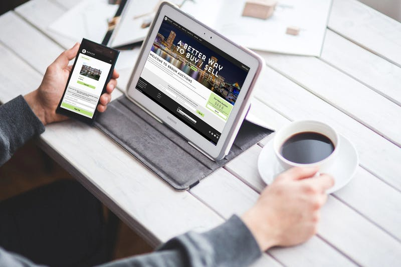 Mobile and tablet view of Braun Auctions