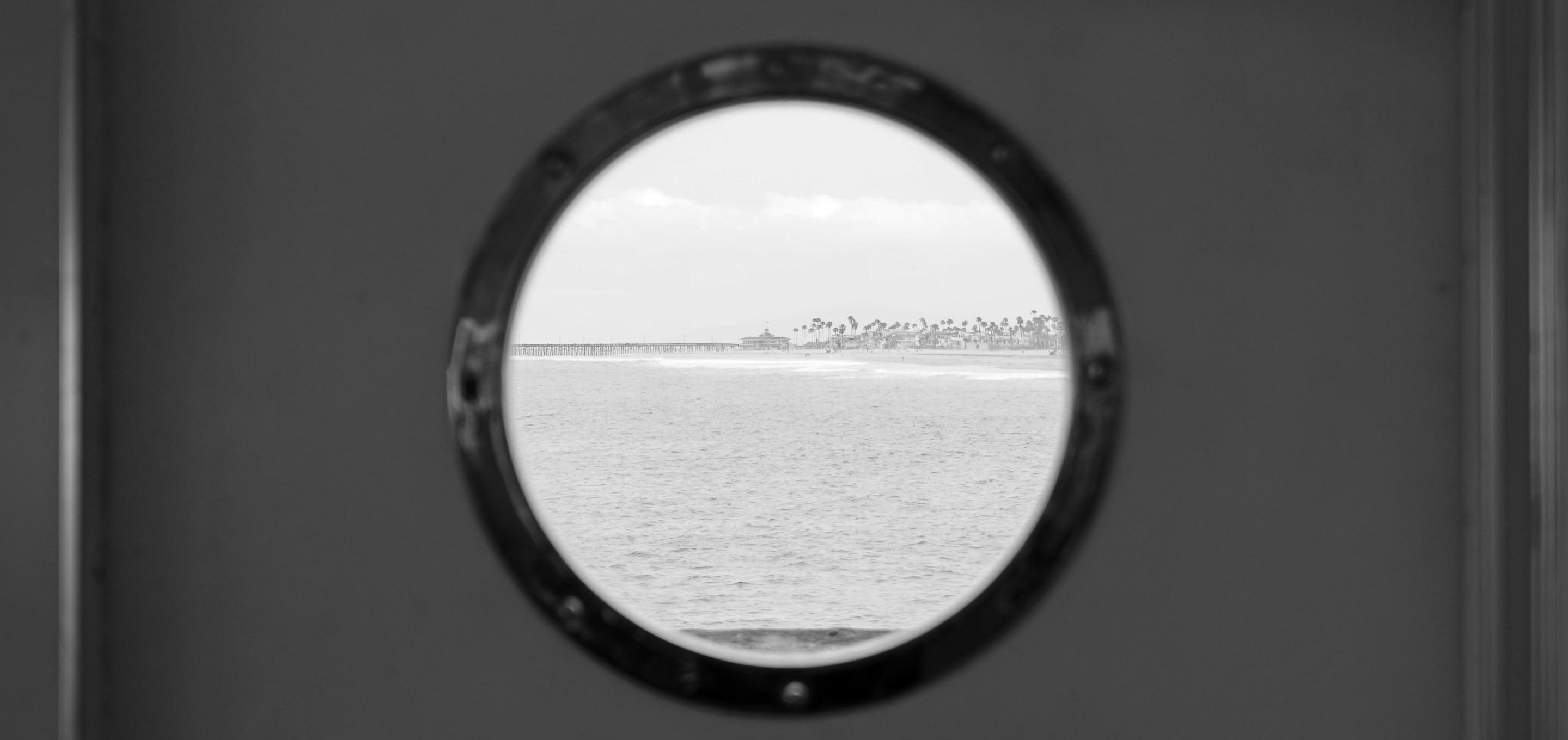 Porthole of a beach
