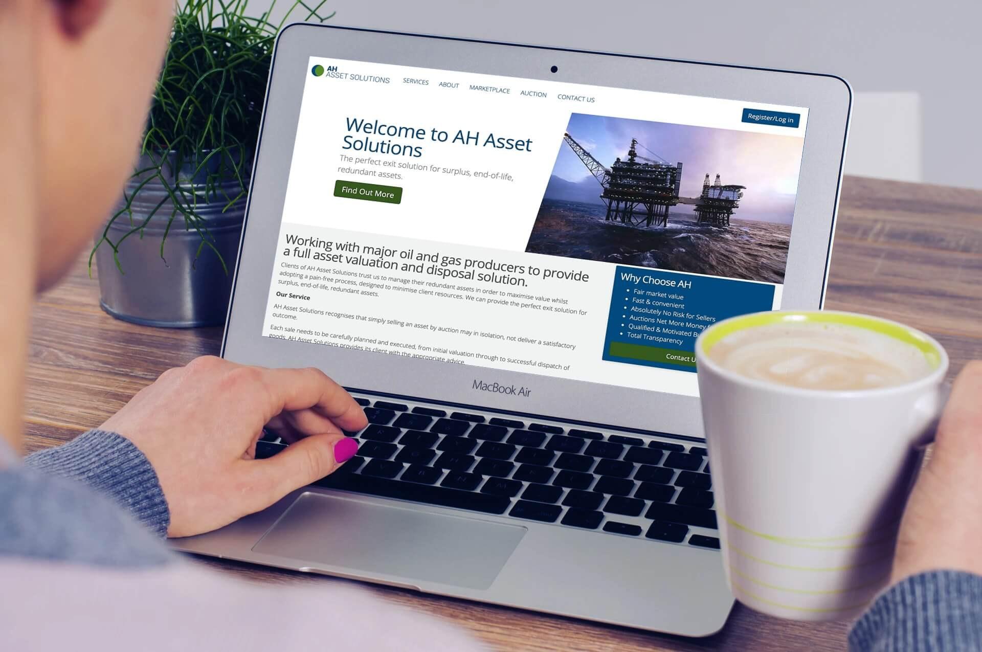 AH Asset Solutions on laptop
