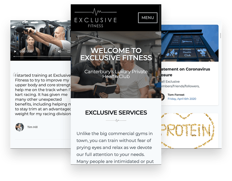 Exclusive Fitness Screenshots on mobile devices