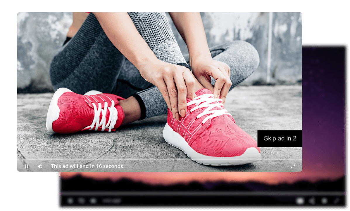 Video Advertisement advertising shoes.