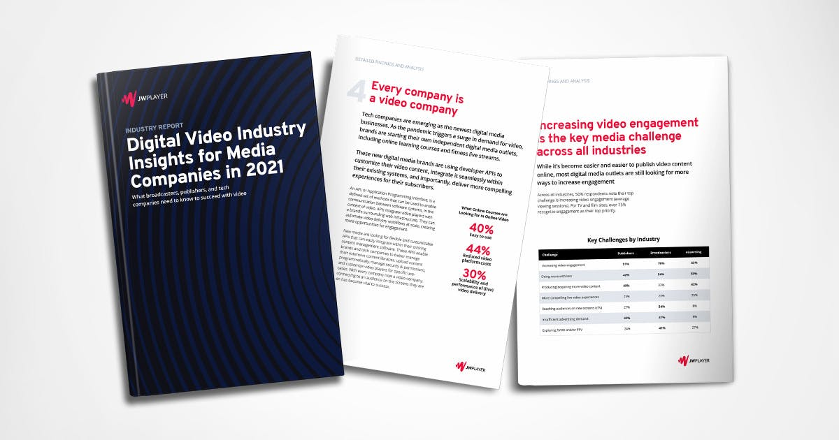 Digital Video Industry Insights for Media Companies - JW Player Report