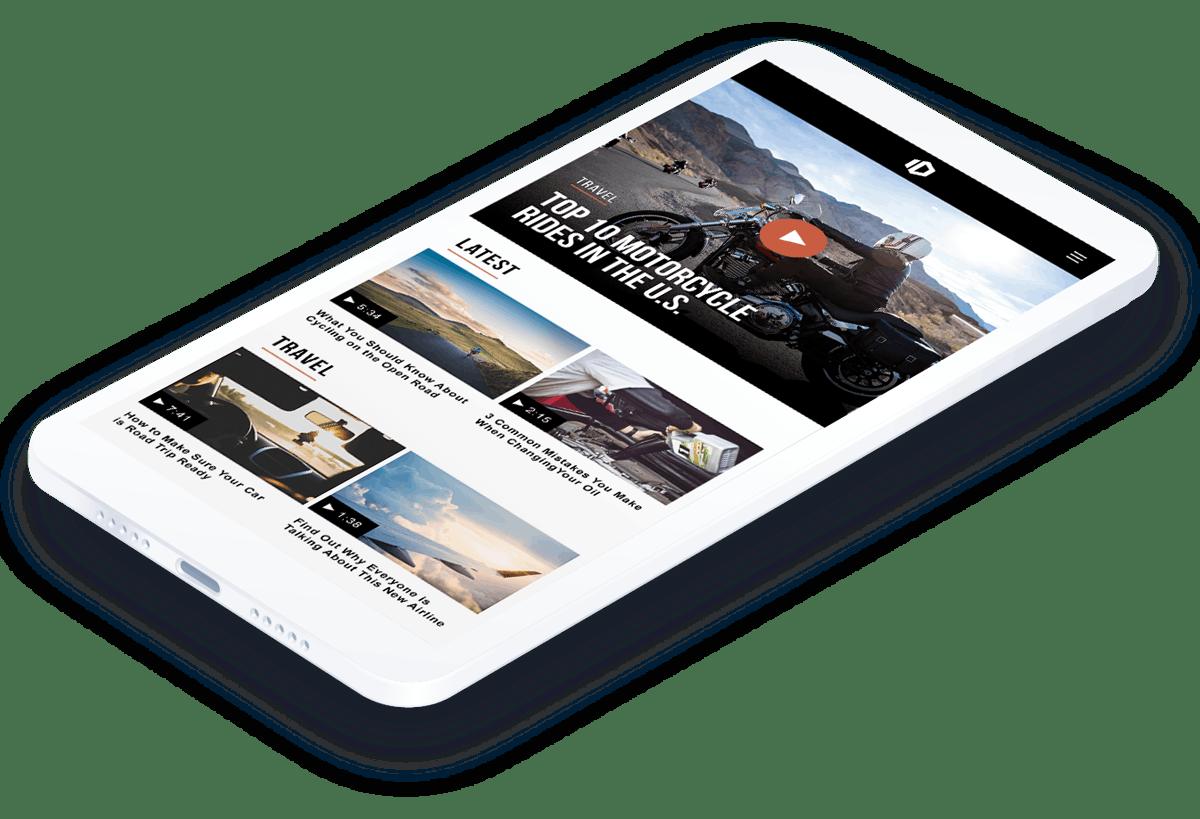 JW Player iOS SDK app in device