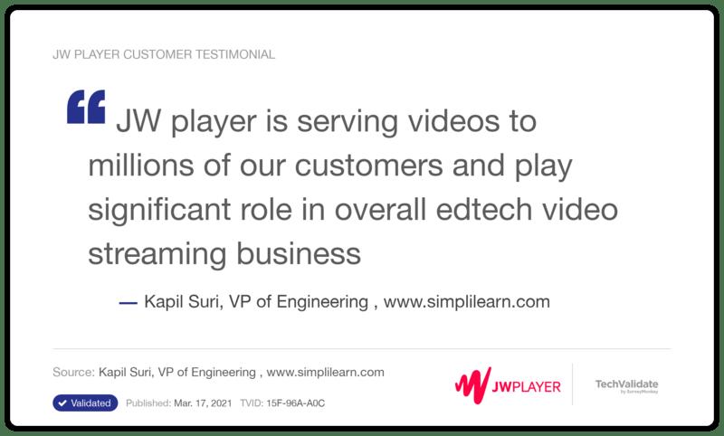 JW Player - edtech video streaming