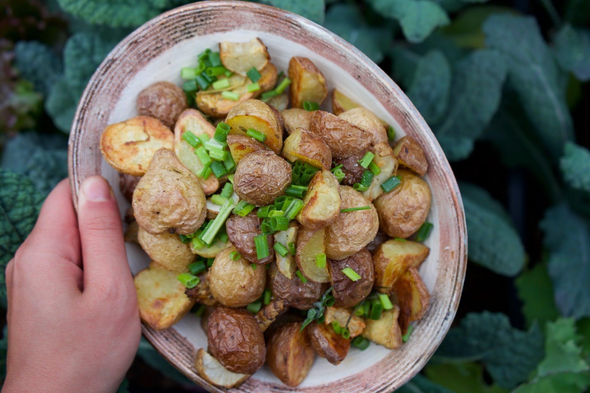 Poelée de pomme de terre aux cèpes et au poulet