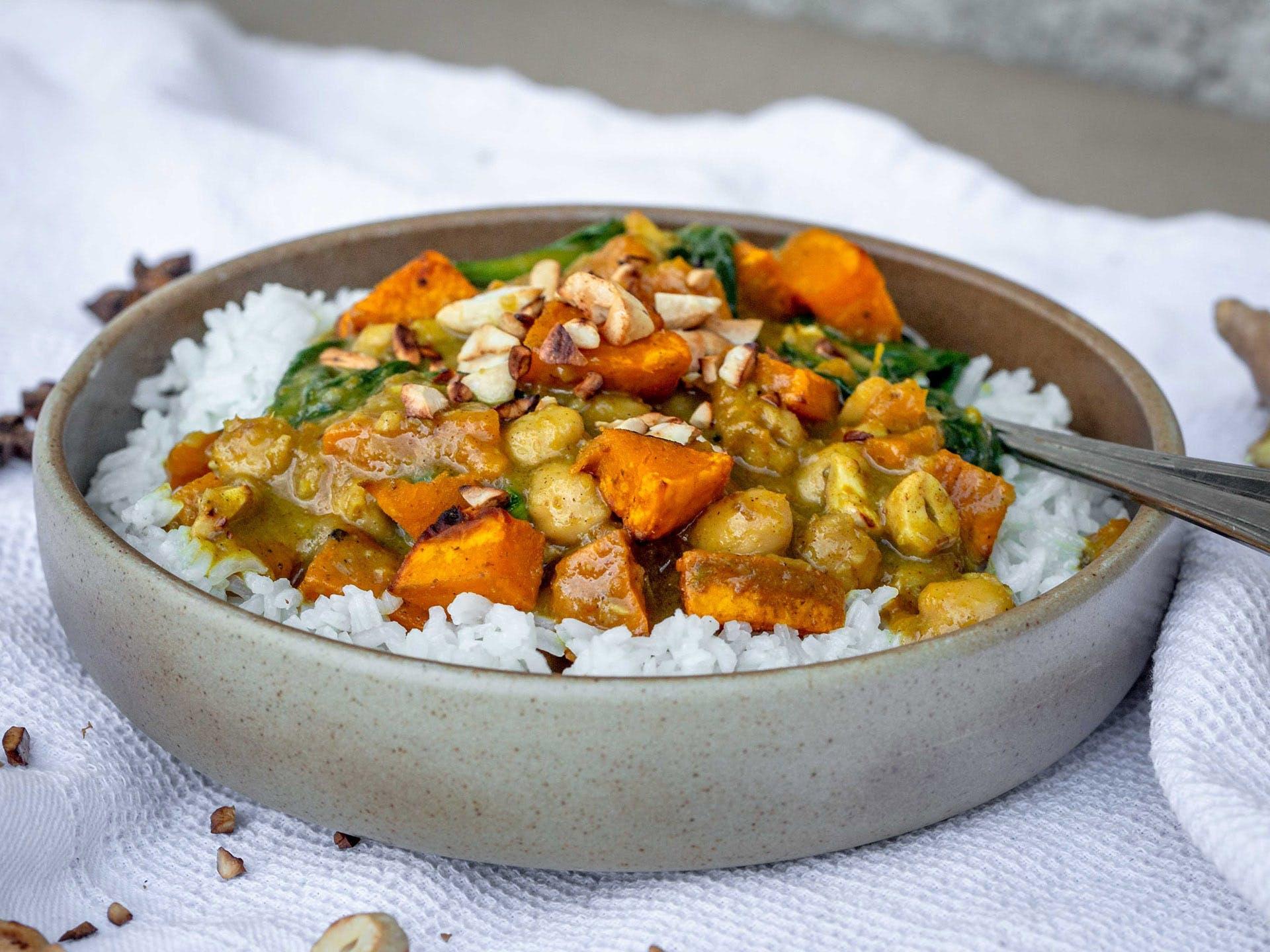 Curry de légumes végan