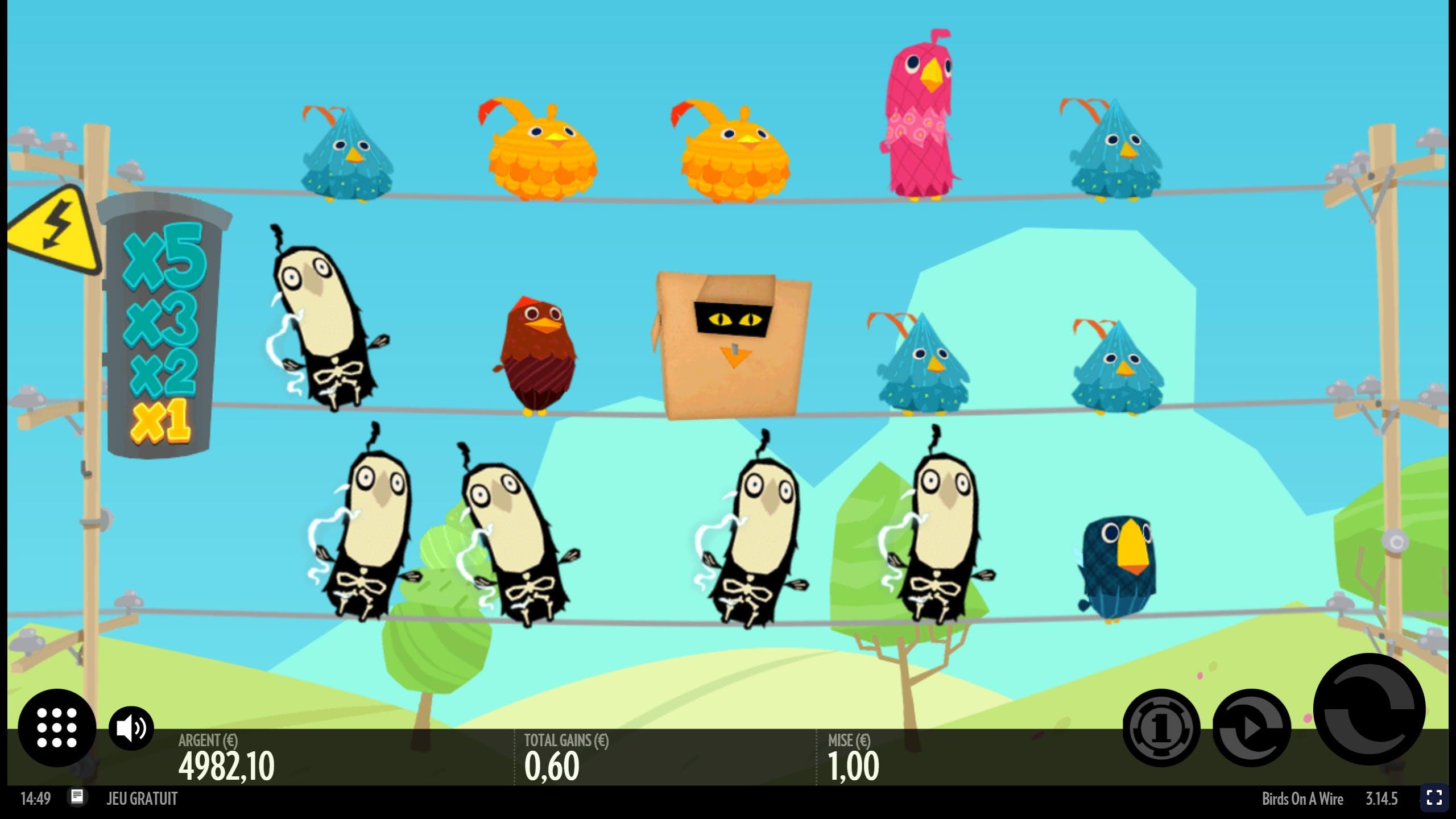 birds on a wire gameplay de thunderkick mode demo