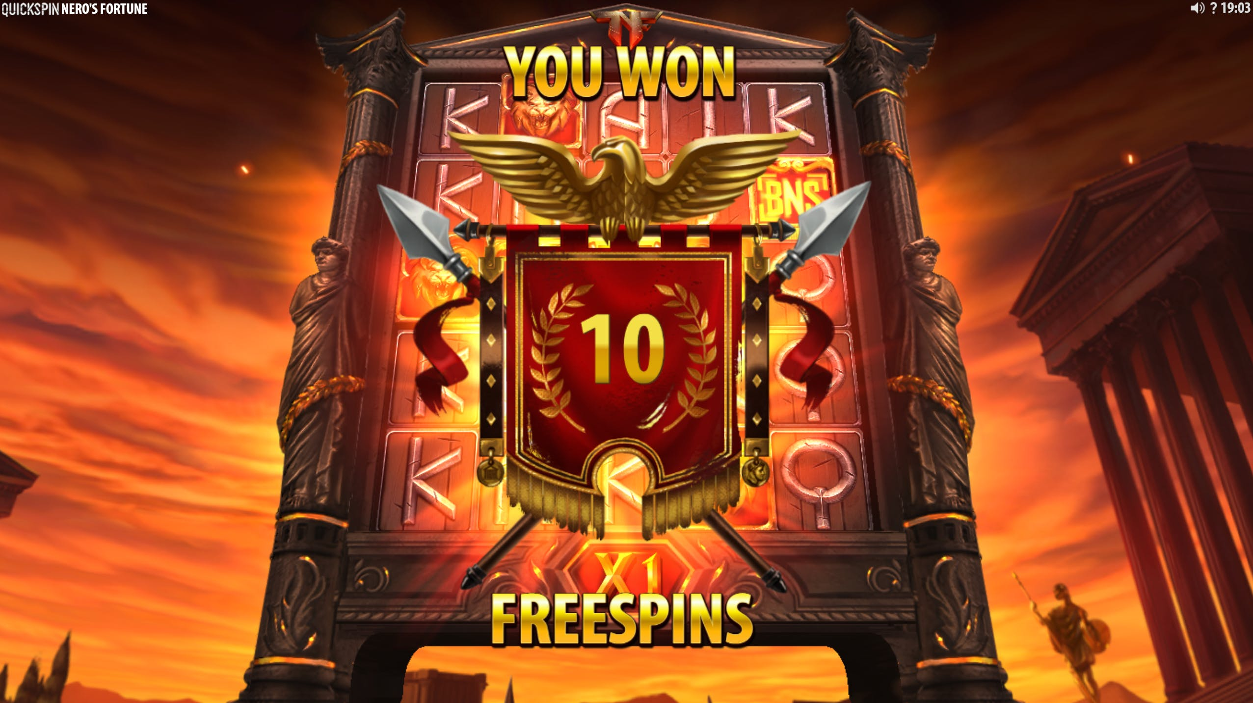 bonus quickspin nero's fortune gameplay celsius