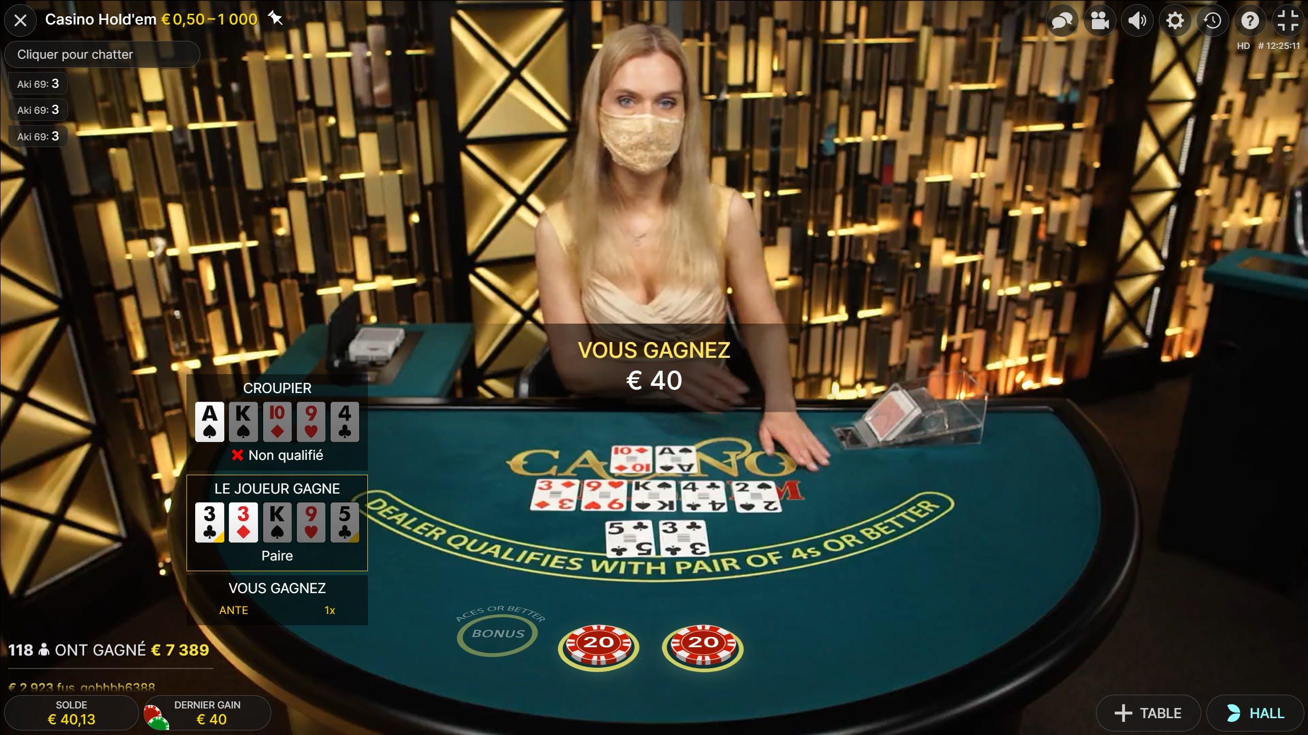 poker hold em evolution gaming gameplay