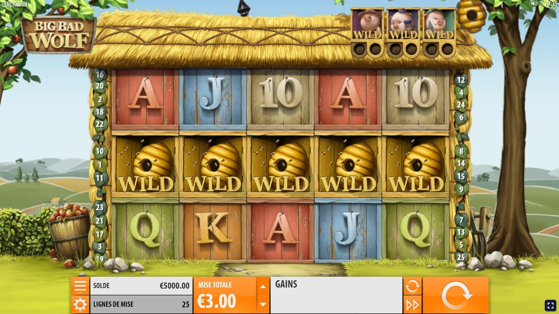 full line de wilds gameplay big bad wolf de quickspin