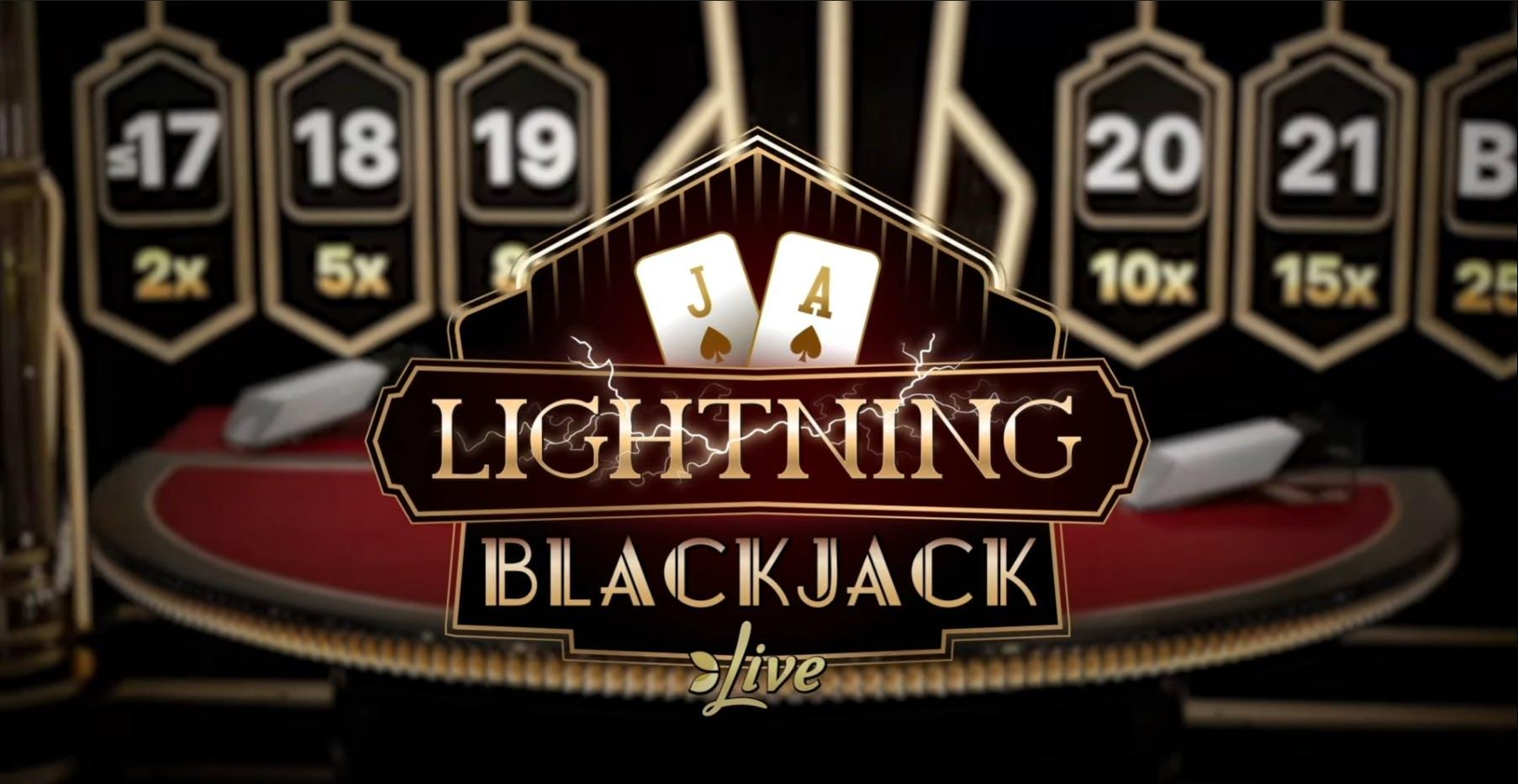 lightning blackjack high definition HD banner advertising