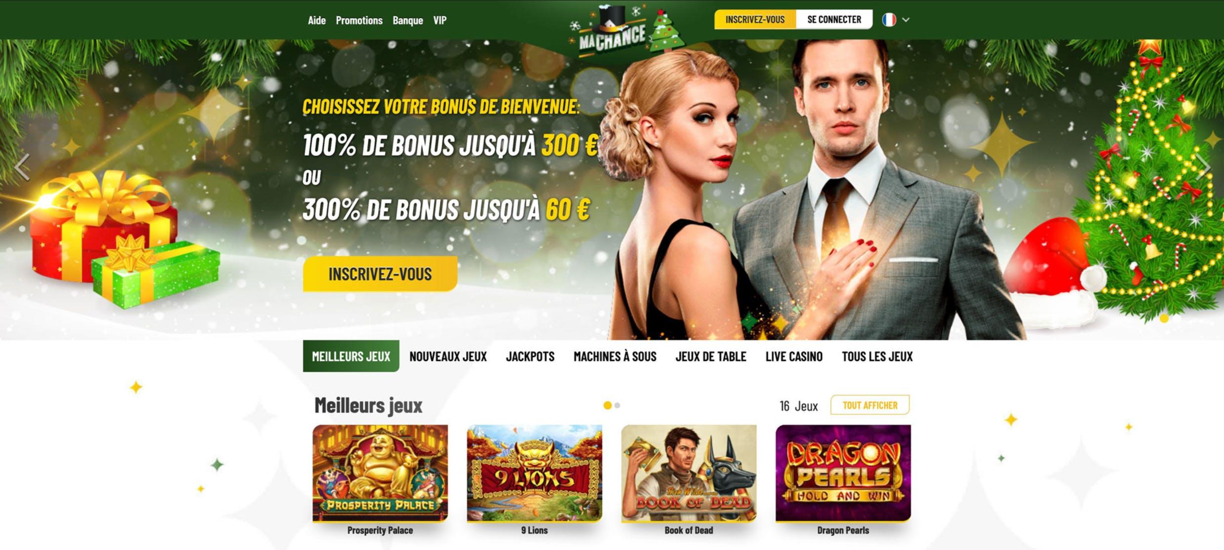 landing page of mychance casino online HD