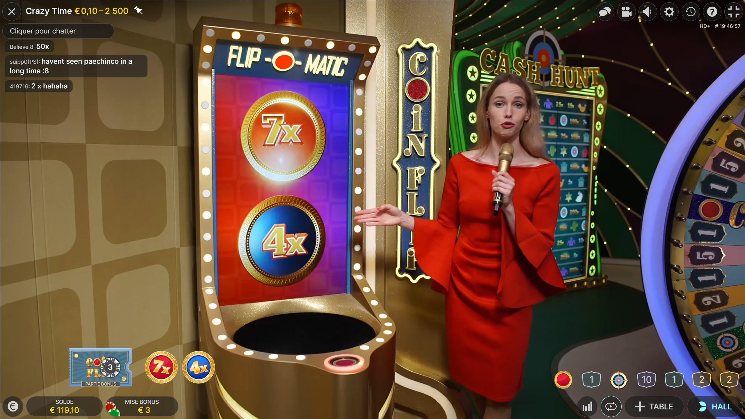 crazy time à jouer sur cresus casino avec kagino fr