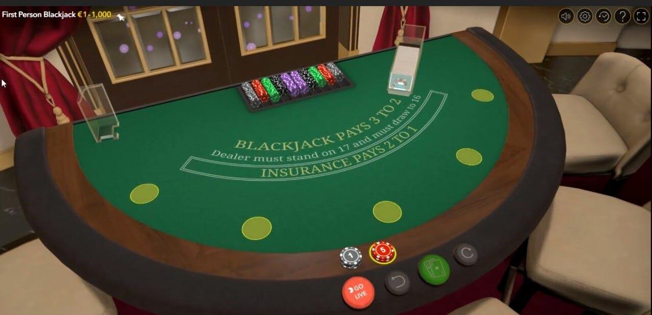 first person blackjack gameplay sur cresus casino