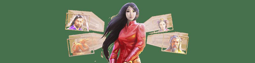 personnage feminin et symbole de quickspin sakura fortune