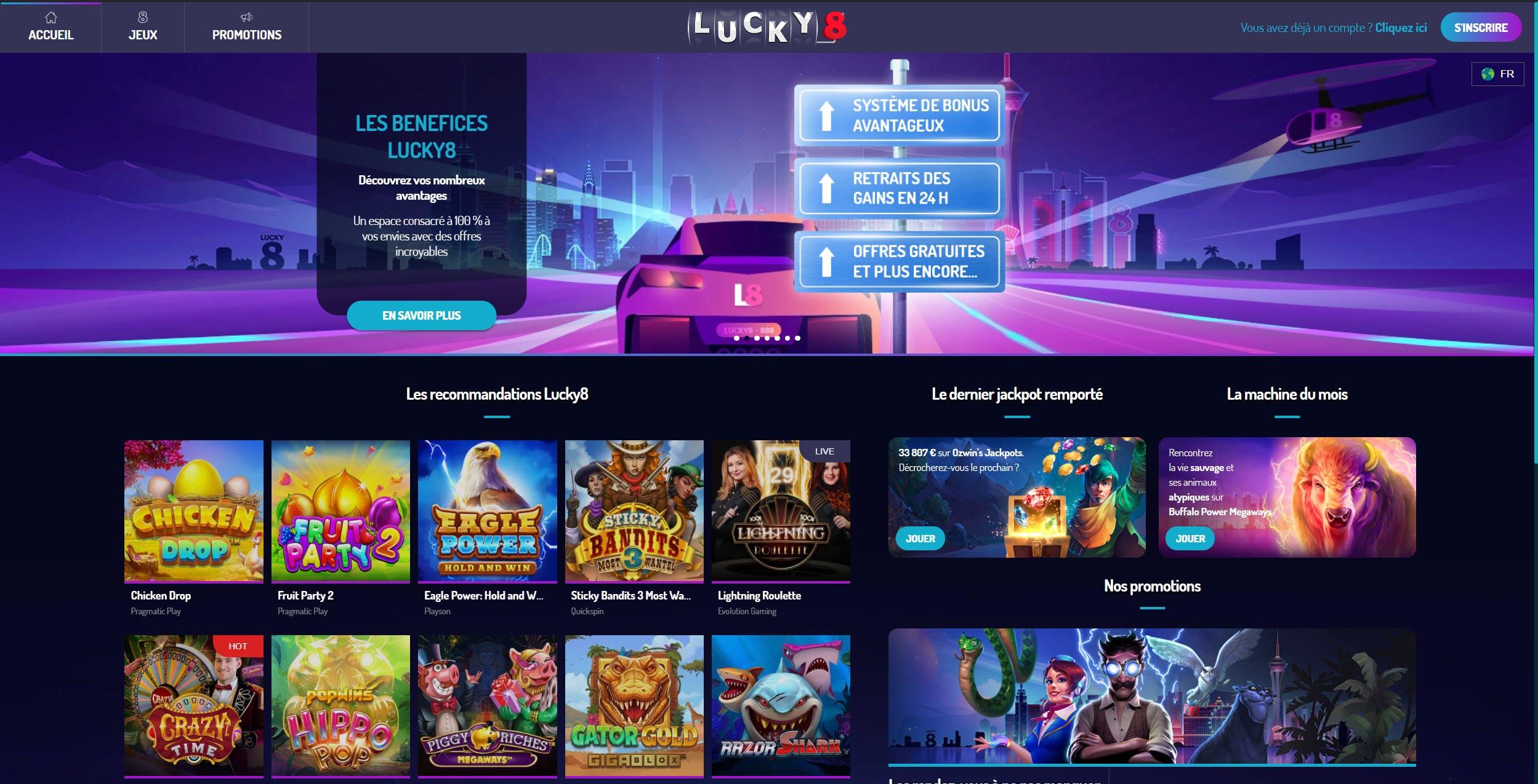 landing page lucky 8 casino