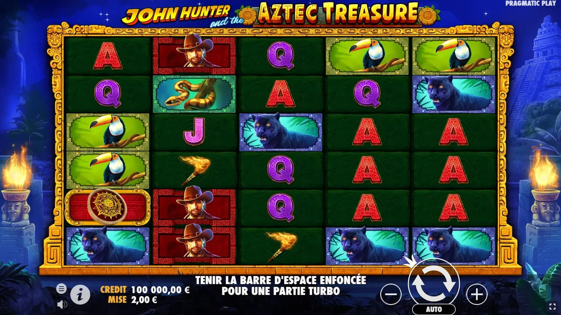 gameplay de john hunter and the aztec treasure de pragmatic play