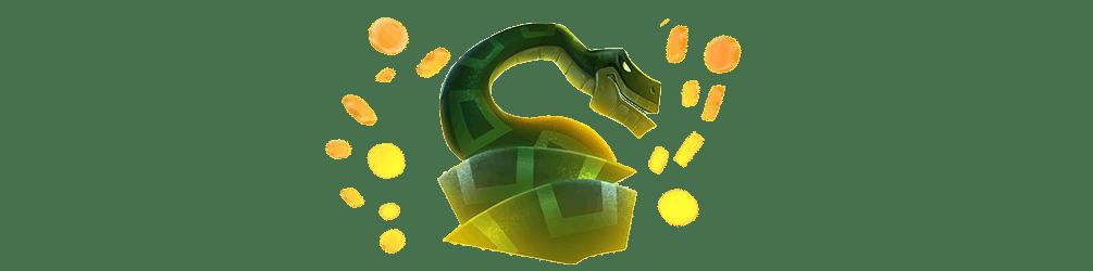 png publicitaire du serpent de aztec gold megaways