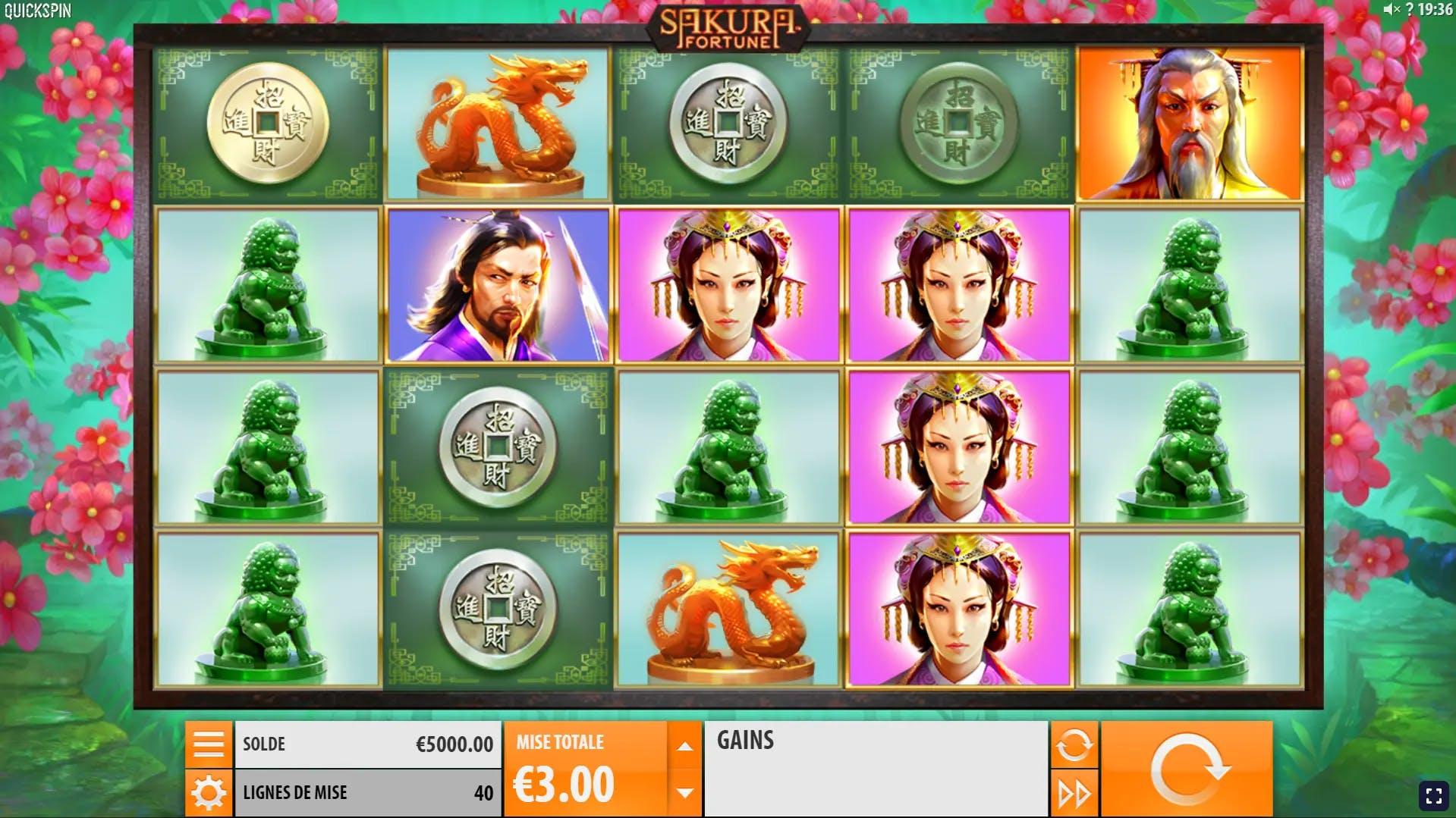 gameplay sakura fortune quickspin