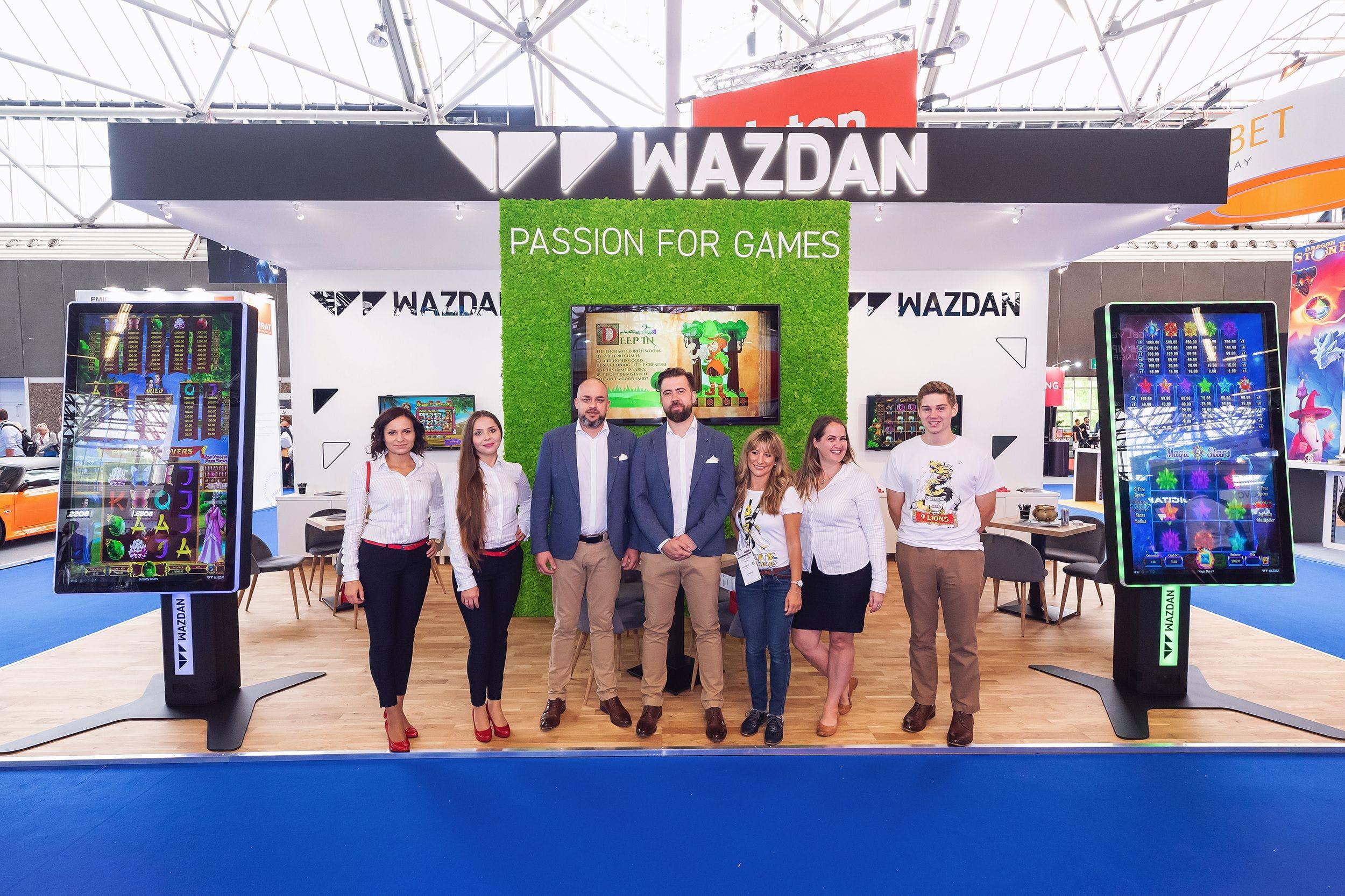 equipe de promotion de wazdan dans un salon igaming