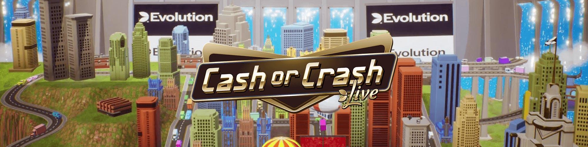 cash or crash live advertising banner