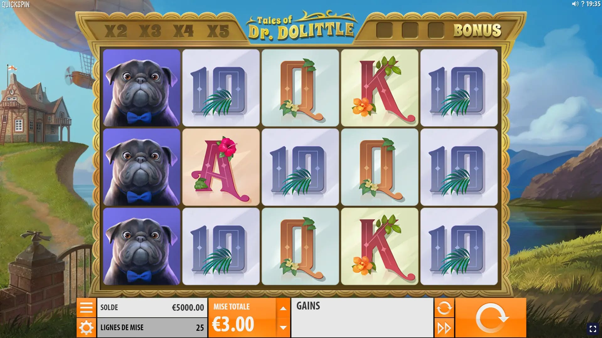 gameplay tales of dr dolittle quickspin