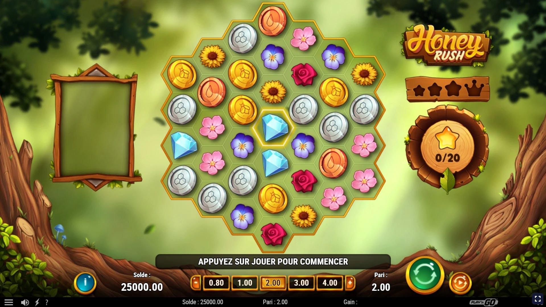 gameplay honey rush playngo