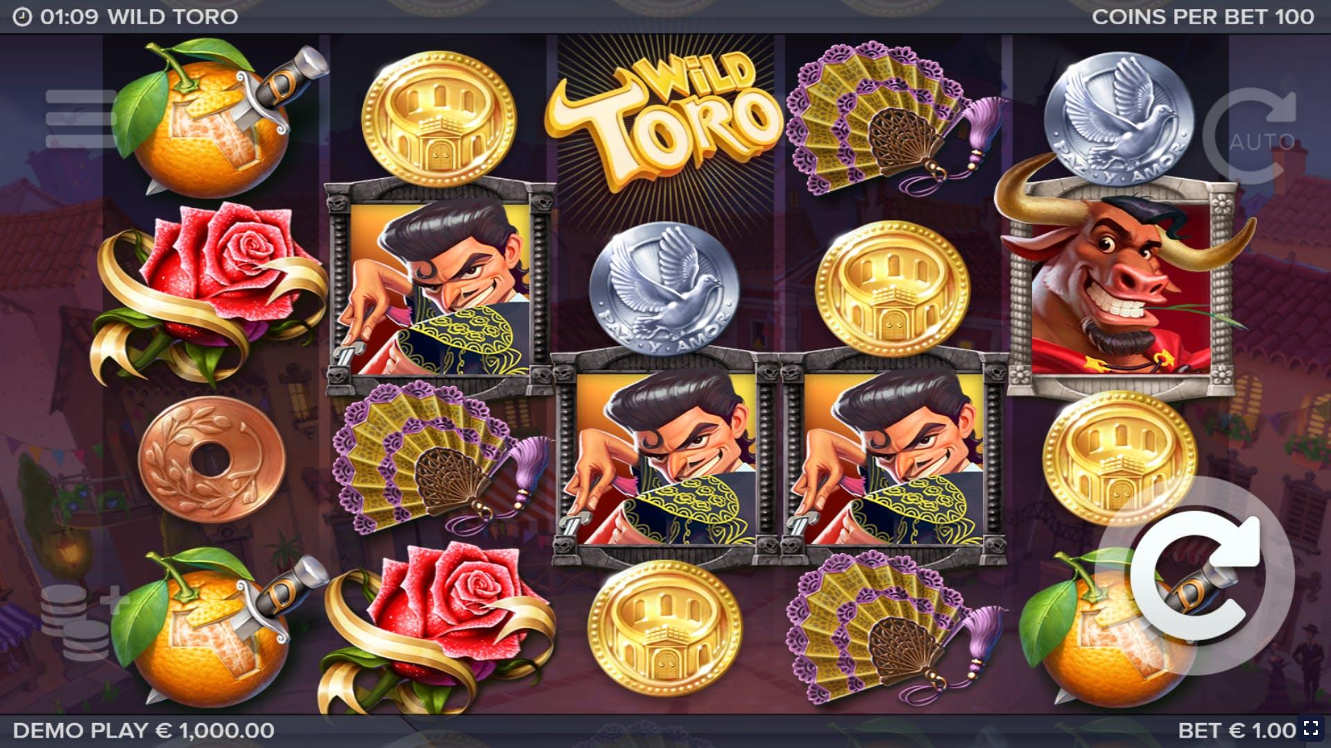 wild toro slot publicité elk studio
