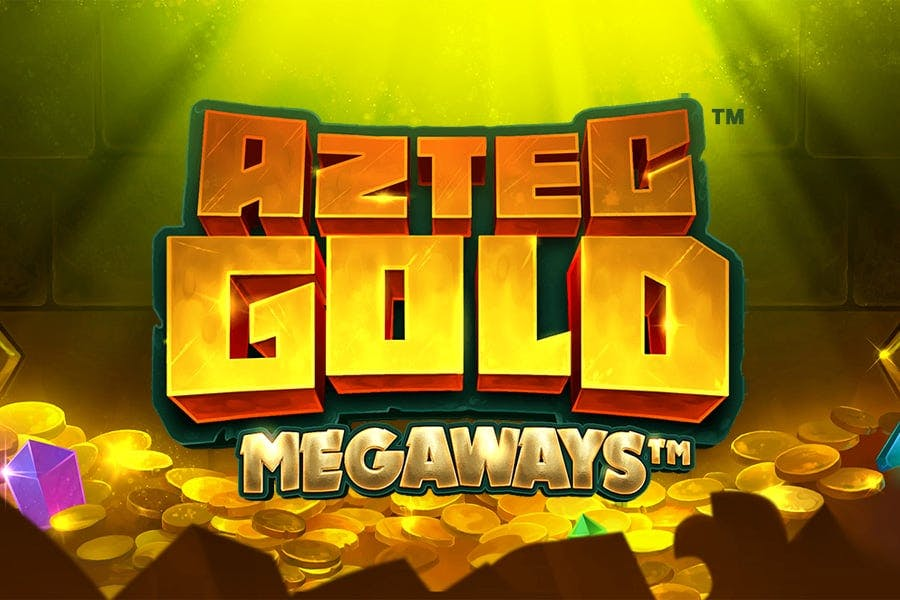 Aztec Gold Megaways advertising banner from ISoftBet