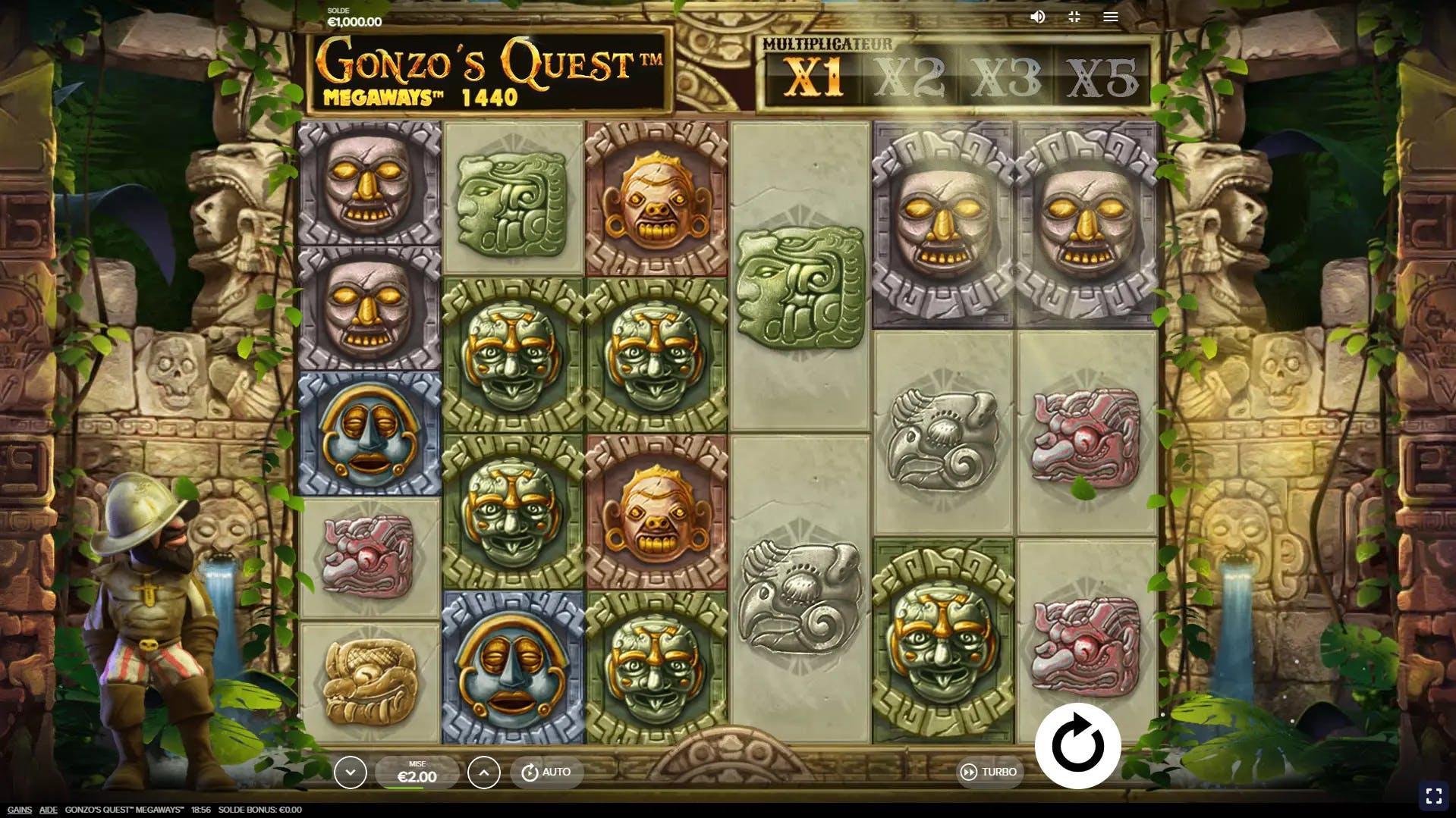 gonzo quest megaways gameplay de red tiger