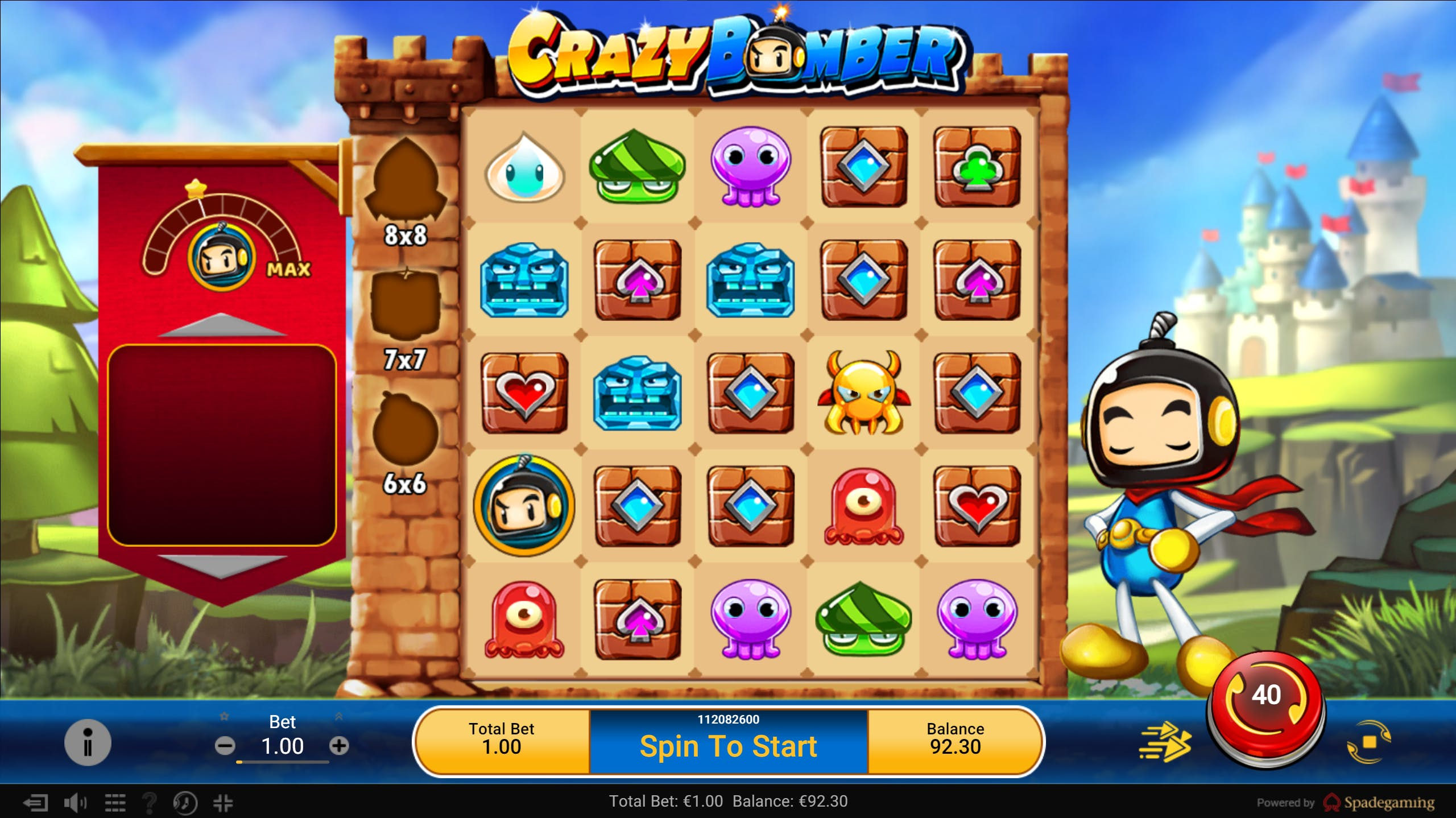 crazy bomber gameplay sticky wilds