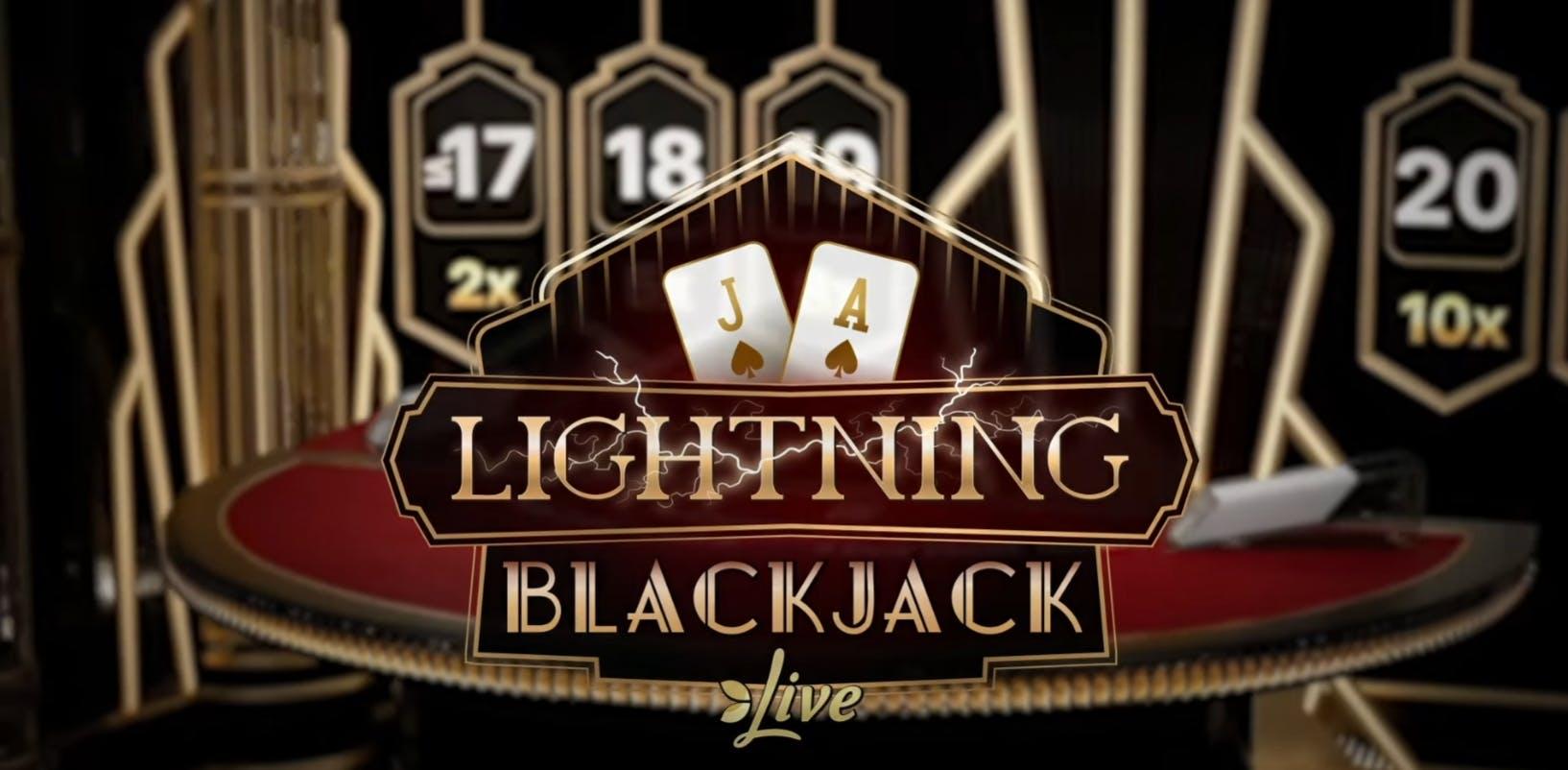 image de présentation du lightning blackjack