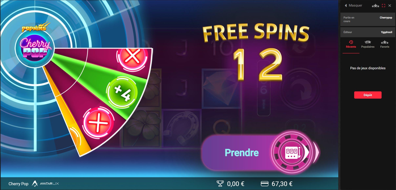 cherry pop gamble bonus