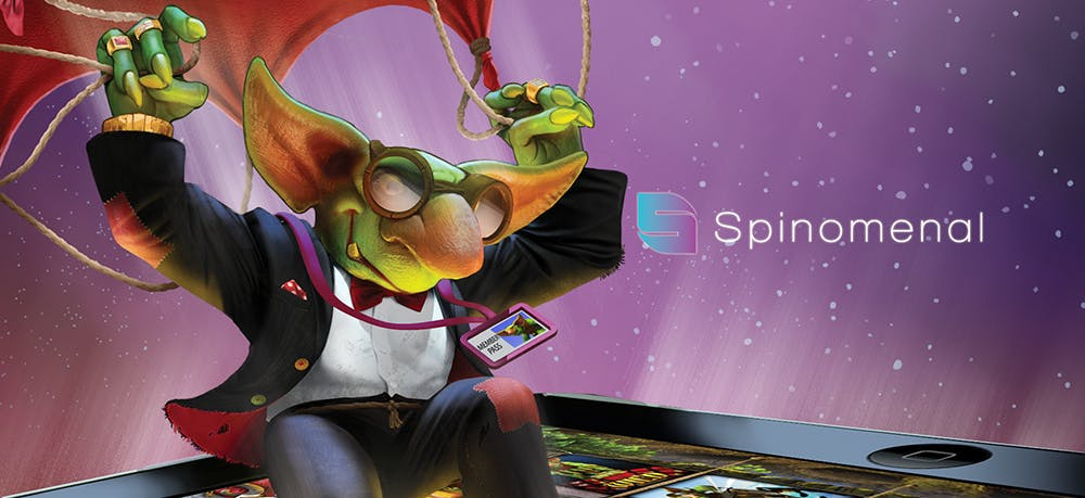 banniere publicitaire hd de spinomenal avec gnome