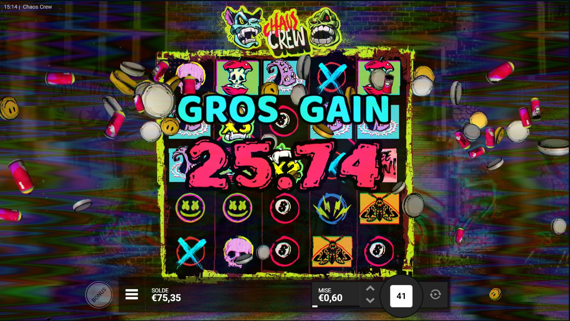 Big Win Chaos Crew Kagino