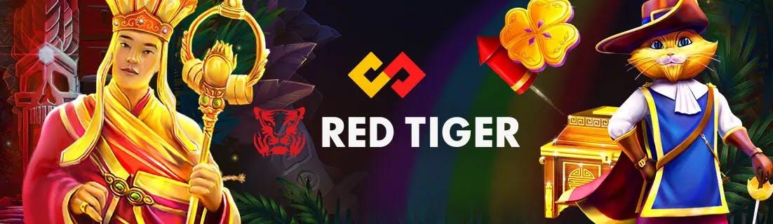 banniere publicitaire de red tiger
