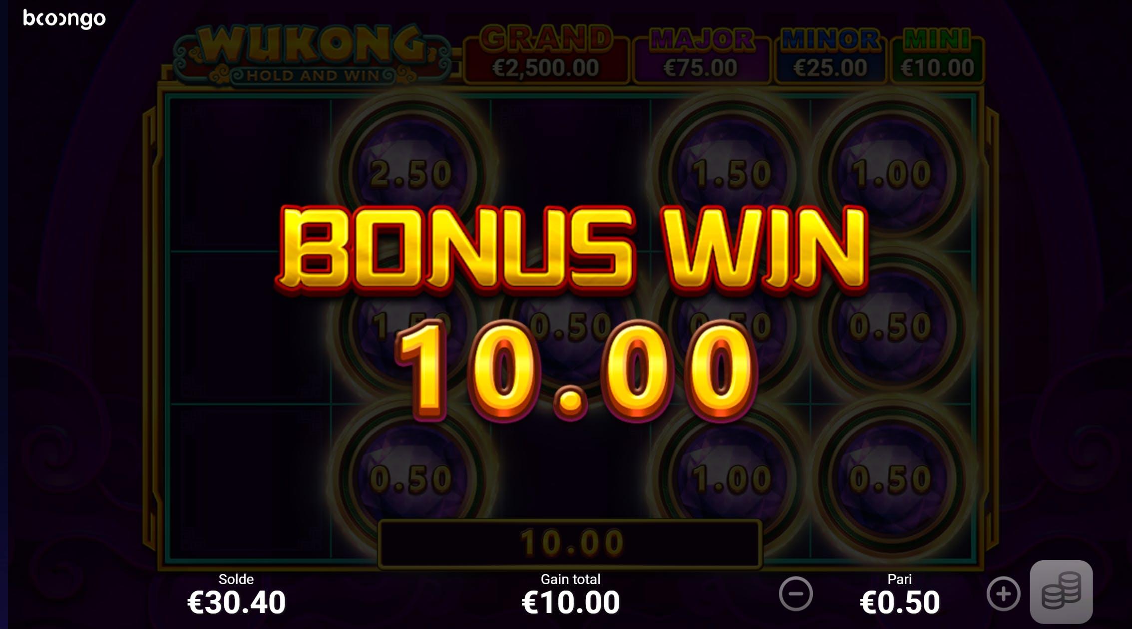 mode bonus de wukong hold and win de boongo