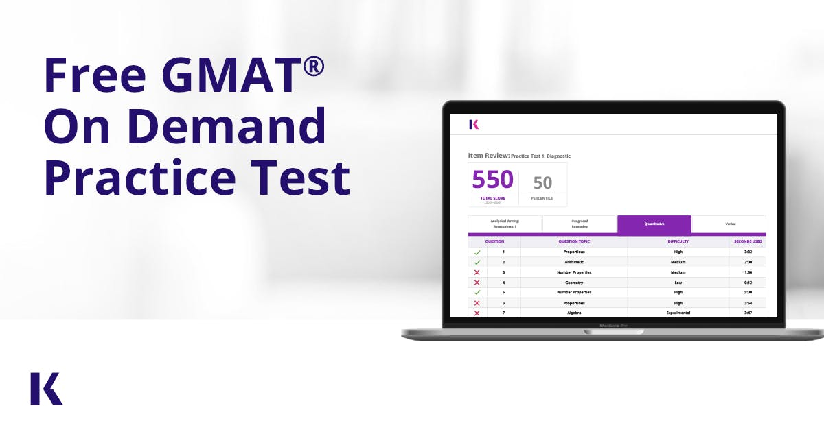 free online gmat practice test with score