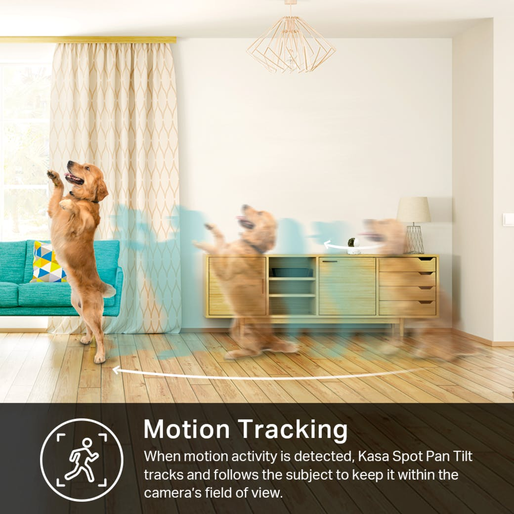 Kasa Spot Pan Tilt gallery image motion tracking