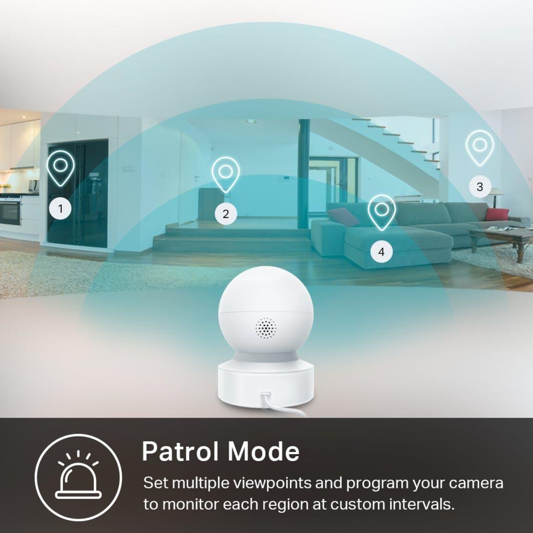 Kasa Spot Pan Tilt gallery image patrol mode