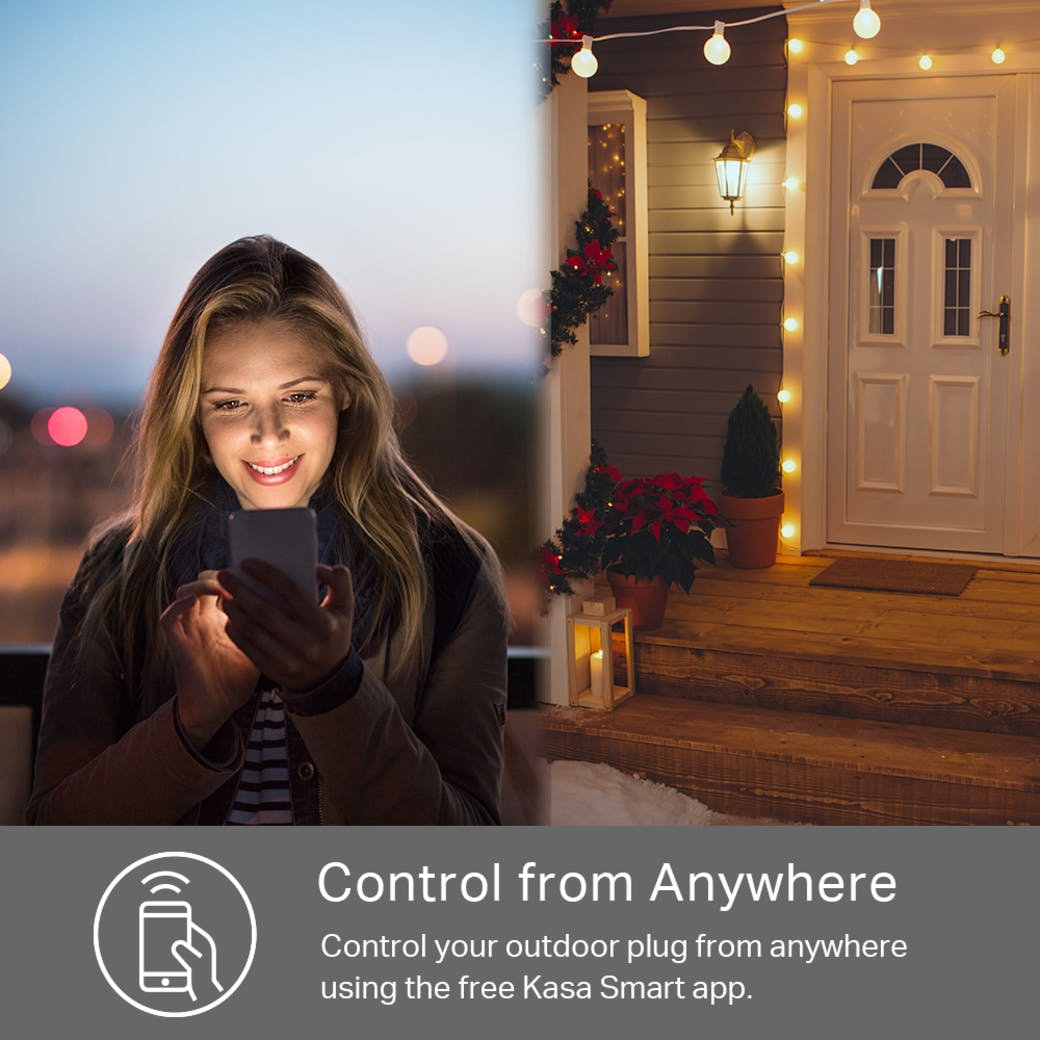 Kasa Smart Wi-Fi Outdoor Plug control from anywhere