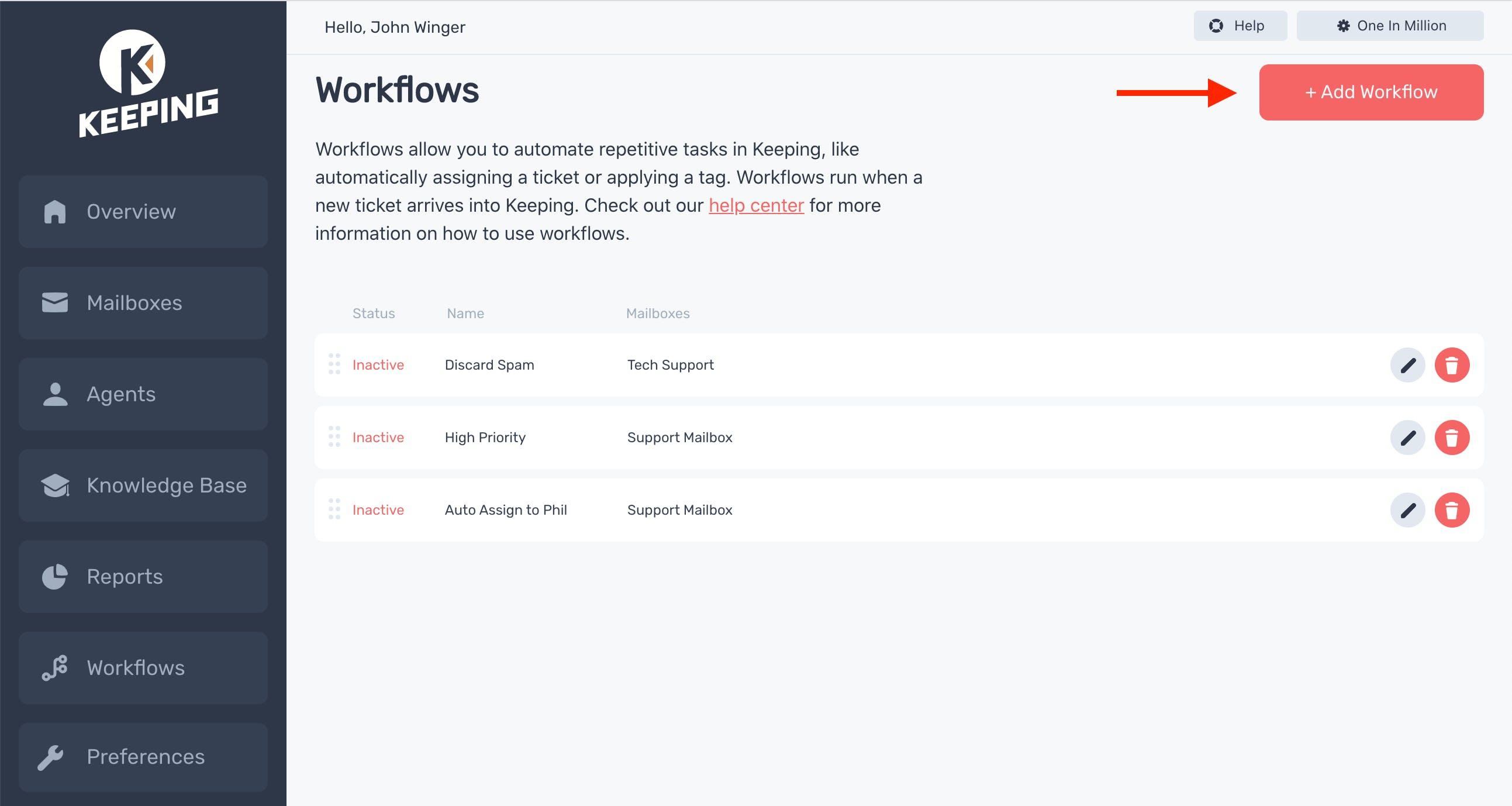 Workflow Index