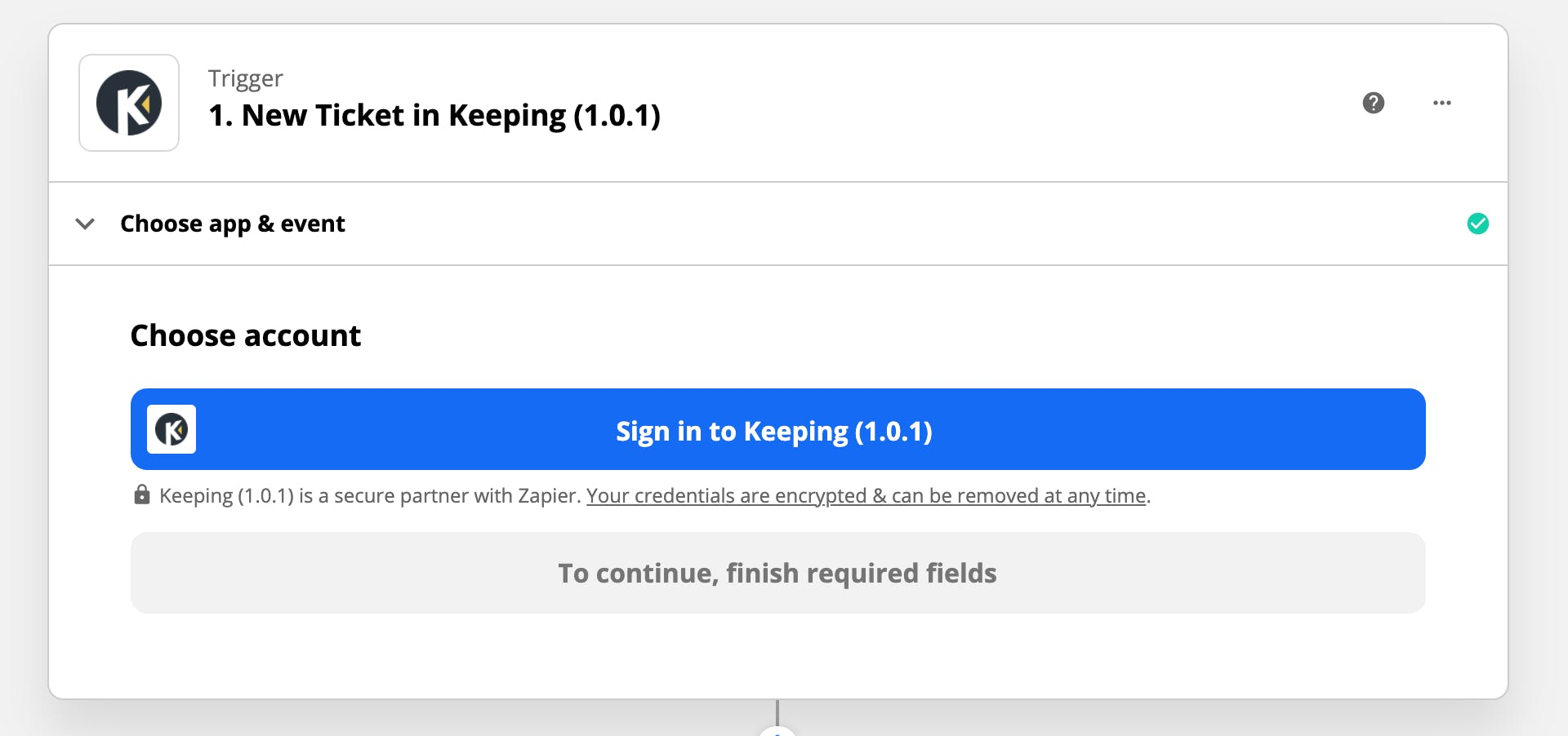 Sign in to Keeping
