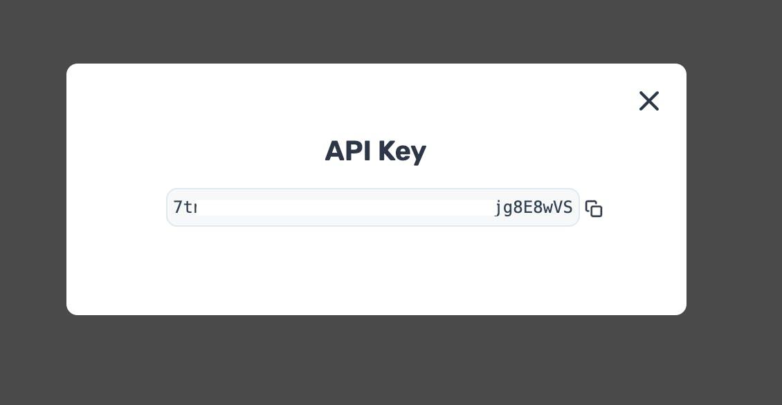Copy your API Key