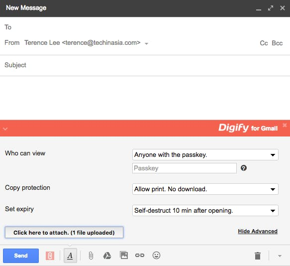 Digify in Gmail