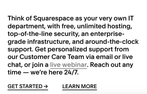 Squarespace CX
