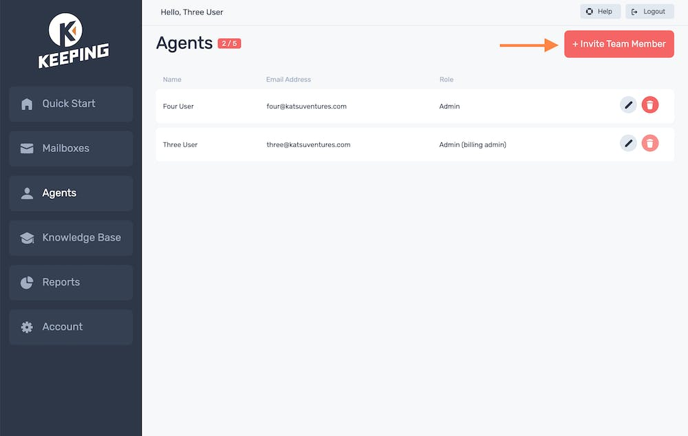 Agent Page
