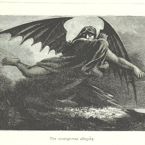 Artist's rendering of a scourge