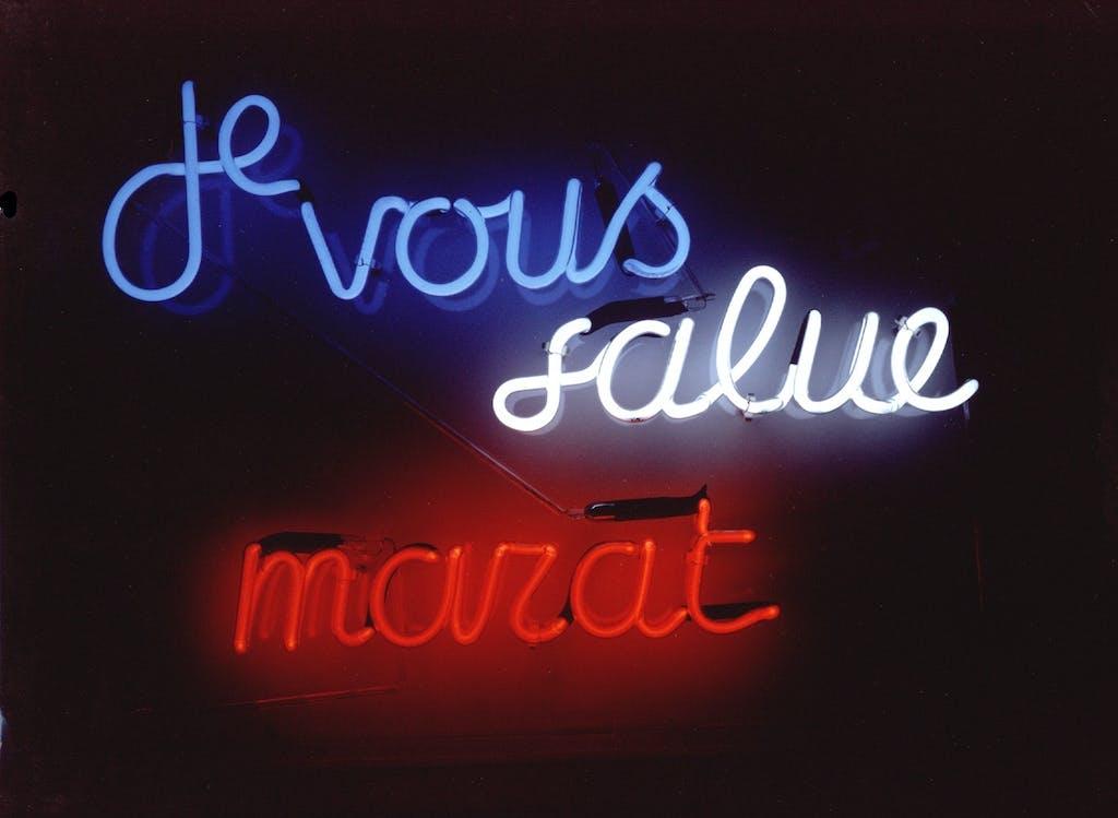 Ian Hamilton Finlay, Je vous salue Marat, 1989