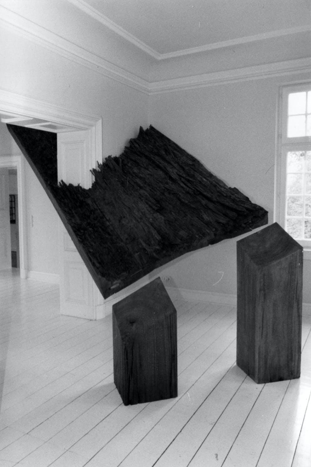 Magdalena Jetelová, Skulptur – Zeichnung